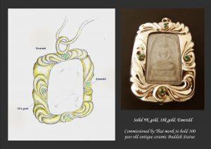 Monk Pend design & pic